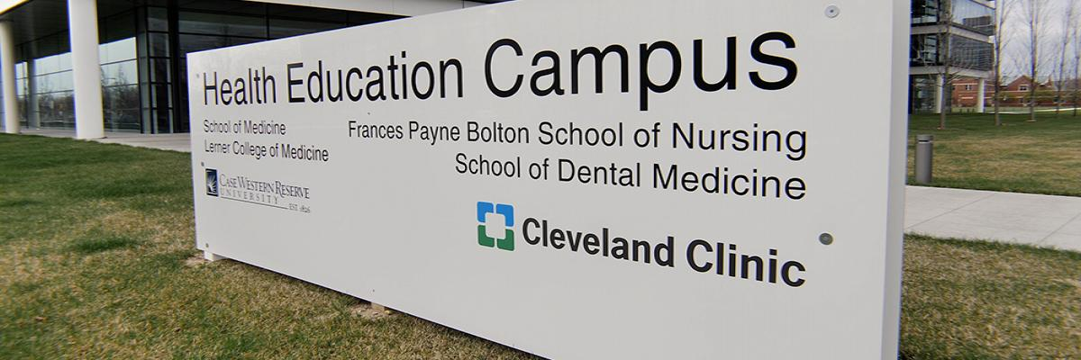 Cleveland Clinic Health Education Campus sign